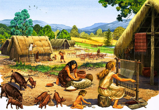 paleolithic neolithic A, b paleolithic, old stone age neolithic, new stone age prehistory, refers to  the long period of time before people invented systems of writing pastoralism.